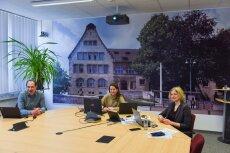 Workshop Feedbackkultur (v.l.n.r. Prof. Dr. Holger Cartarius, Dr. Elizabeth Watts, Nora Möhrstädt)